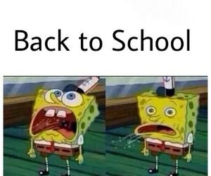 school and spongebob image