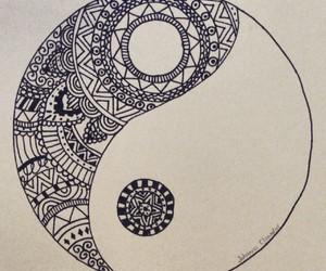 drawing, muster, and yin yang image
