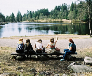 friends, nature, and vintage image