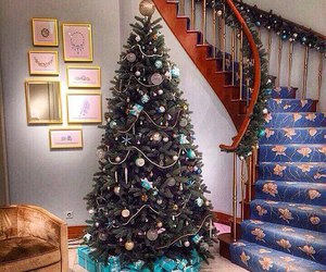 christmas, new year, and tree image
