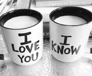 love, cup, and couple image