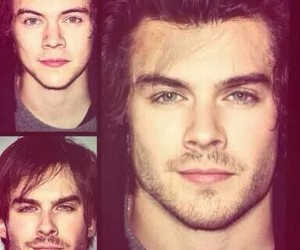 Harry Styles, ian somerhalder, and one direction image