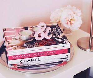 chanel, book, and pink image
