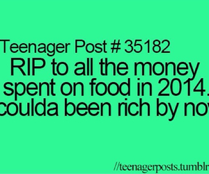 food, rich, and money image