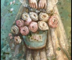 flowers, roses, and old image