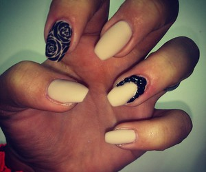 cream, nails, and sweet image