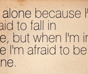 afraid, alone, and fear image
