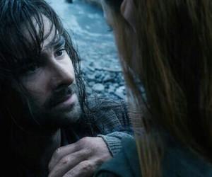 kili, tauriel, and the hobbit image