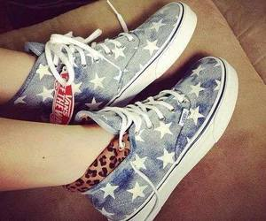 stars, vans, and shoes image