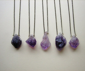 necklace, purple, and hipster image