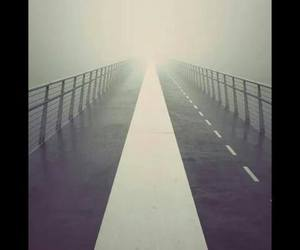 wallpaper, road, and fog image