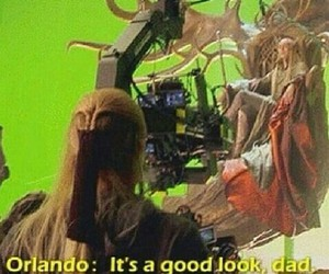 lee pace, orlando bloom, and thranduil image