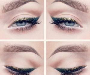 make up, eyeliner, and eyes image