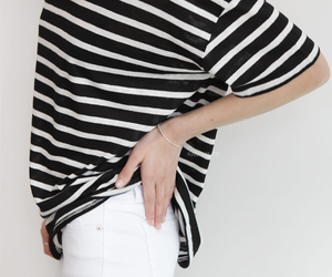 fashion, stripes, and white image