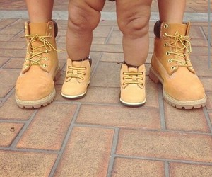 timberland, baby, and shoes image