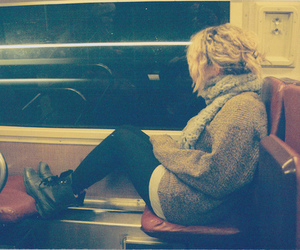 girl, train, and blonde image