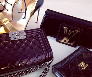 bags, black, and shoes image