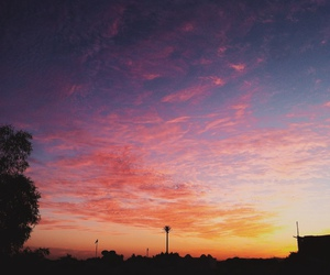 sky, beautiful, and pink image