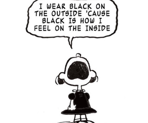 black, charlie brown, and black and white image