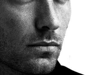 jude law, Hot, and black and white image