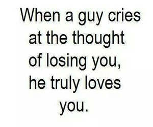 love, cry, and guy image