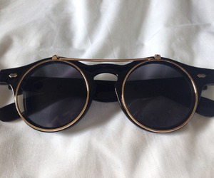 glasses, ray bands, and round glasses image