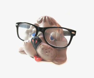 dog, eyeglass holder, and cute image