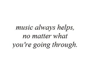 music, quote, and help image