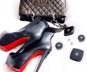 bag, chanel, and louboutin image