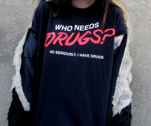 drugs, shirt, and grunge image