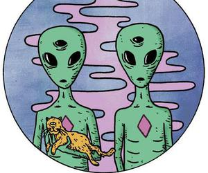 alien, cat, and grunge image