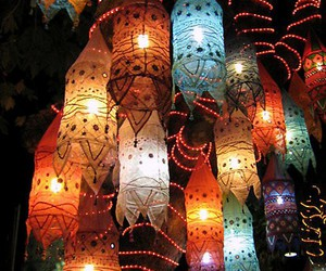 colors, lantern, and turkey image