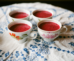 cup, vintage, and red image