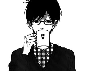 anime, anime boy, and black and white image