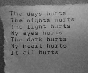 hurt, dark, and light image