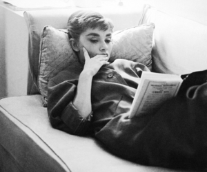 audrey hepburn, book, and read image