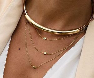 necklace, style, and gold image