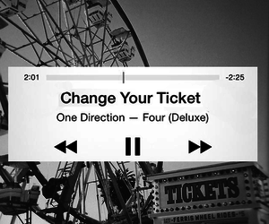 four, one direction, and change your ticket image