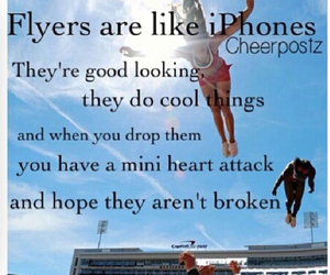 flyer, cheer, and cheerleading image