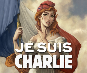 france, charlie hebdo, and charlie image