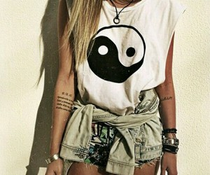 girl, outfit, and tattoo image