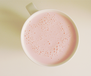 pink, milk, and cup image