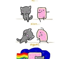 nyan cat, cat, and fusion image