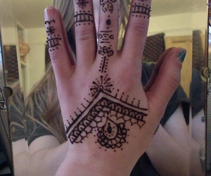 henna, pattern, and pattern design image