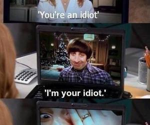 the big bang theory, funny, and idiot image