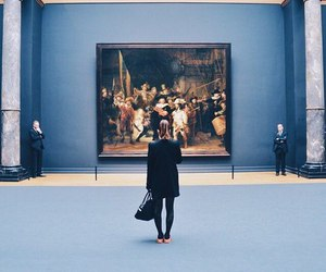 art, museum, and blue image