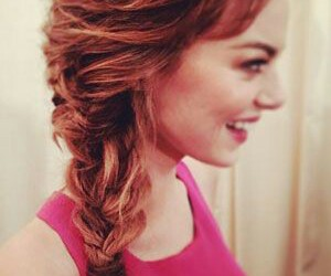 emma stone, hair, and met gala image