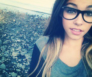 madison beer, glasses, and nerd image