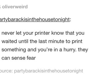 fear, funny, and printer image