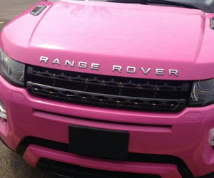 pink, range rover, and car image